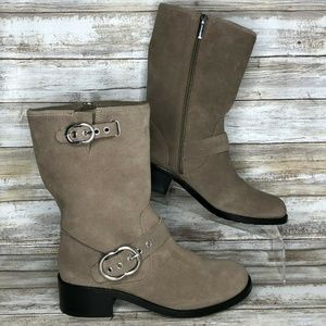 NEW Vince Camuto 7M Wilan Brown Mid Calf Boots